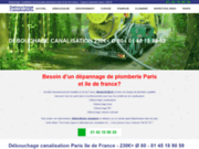screenshot http://www.debouchagecanalisations.fr Débouchage canalisation Paris 15
