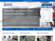 screenshot http://www.deboucher-canalisations.com canalisations