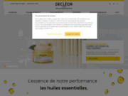 screenshot http://www.decleor.fr/ declÉor : aromathérapie et cosmétique