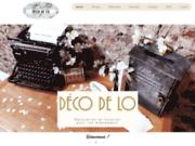 screenshot https://www.deco-de-lo.fr/ Décoration mariage et évènements