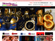 screenshot http://www.decodefete.com/ articles de décoration