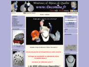 screenshot http://www.decomine.fr boutique decomine, vente en ligne de minéraux et b