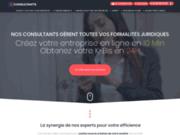 screenshot http://deconsultants.fr cabinet de création de société en ligne