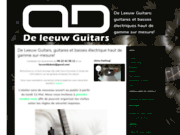 screenshot http://www.deleeuw-guitars.com/ Guitare