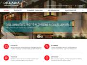 screenshot http://www.dellanna-electricite-plomberie.com/ Dell'Anna Électricité Plomberie