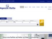 screenshot http://www.delta-immobilier.com agence immobilière delta la garde d'achat d'appartement, de terrain et de programmes neufs sur la garde, hyères et var.
