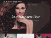 screenshot http://www.demechesavecvous-81.com salon de coiffure mixte à Castres
