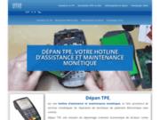 screenshot http://www.depan-tpe.fr/ assistance et dépannage terminaux cartes bancaires