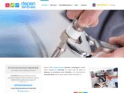 screenshot http://www.depansenonais.com/ plombier chauffagiste à Sens 89100