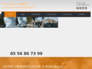 screenshot http://www.dermatologie-laser-bordeaux.com dermato à bordeaux 33