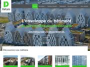 screenshot http://www.detam.fr detam entreprise de couverture, bardage