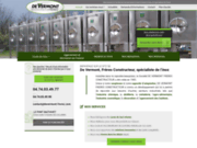 screenshot http://www.devermont-freres.com fabricant inox : de vernmot frères
