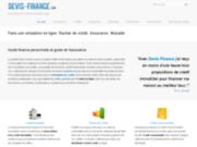 Devis Finance : simulation de crédit et rachat de crédit