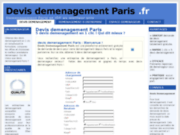 screenshot http://www.devisdemenagementparis.fr devis demenagement