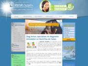 screenshot http://www.diagartois.fr tous vos diagnostics immobiliers dans le 59,62