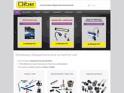 screenshot http://www.dibe.fr/ outils coupants disponibles chez le fournisseur DIBE