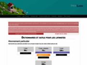 screenshot http://www.dicolatin.com dictionnaire latin français : 105 000 sens et 3,4 millions de formes latines reconnues