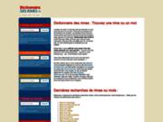 screenshot http://dictionnaire-des-rimes.fr dictionnaire des rimes