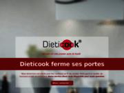 screenshot http://www.dieticook.com/ feuilles de cuisson