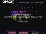 screenshot http://www.diprofa.fr matériel scénique, podium et praticable de scène