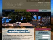 screenshot http://www.domainedediane.com camping domaine de diane