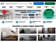 screenshot http://www.domotelec.fr pompe à chaleur