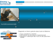 screenshot http://www.dony-protect.be humidité mur en amay