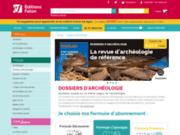 screenshot http://www.dossiers-archeologie.com/ archeologie