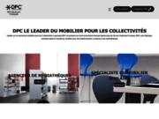 screenshot http://www.dpc.fr créateur de mobilier