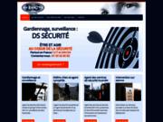 screenshot http://www.ds-securite.com gardiennage à paris avec ds sécurité
