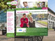 screenshot http://www.duo-sante.fr/ duo santé - offre d'emploi médical