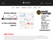 screenshot http://www.duvoisinguitars.com accès aux guitares et bases swiss made. duvoisin