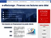 screenshot http://www.e-affacturage.fr solutions d'affacturage pour les tpe, pme