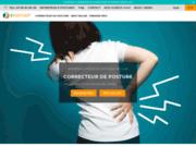 screenshot https://e-posture.fr/ correcteur de posture