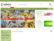 screenshot https://www.e-soteria.com La boutique ésotérique E-SOTERIA