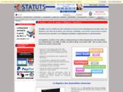 screenshot http://www.e-statuts.com e-statuts  documents et statut pour la création