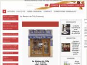 screenshot http://www.e-tilly.com La Maison de Tilly Cabourg