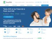 screenshot http://www.easy-dna.be test de paternite france et belgique