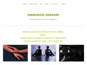 screenshot http://www.ebernard.org emmanuel bernard, yoga  soins énergétiques