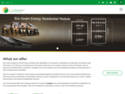 screenshot http://www.eco-greenenergy.com exportateur energie solaire de chine