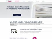 screenshot http://www.ecobook.eu catalogue interactif feuilletable