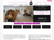 screenshot http://www.ecole-creation-la-ruche.fr école des arts appliqués