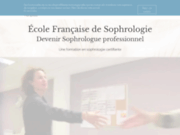screenshot http://www.ecole-formation-sophrologie.fr ecole française de sophrologie