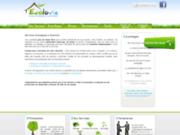 screenshot http://www.ecolovie.org ecolovie, société d'éco services à domicile