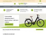 screenshot http://www.ecox.fr ecox, les vélos électriques