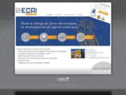 screenshot http://www.ecri-electronic.com bureau d'étude de systèmes électroniques.