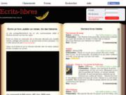 screenshot http://ecrits-libres.fr ecrits libres, ecrire, lire, publier en toute liberté