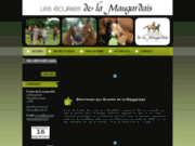 screenshot http://www.ecuriesdelamaugardais.com/ pension chevaux bretagne