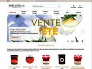 screenshot http://www.edelices.com/ épicerie fine