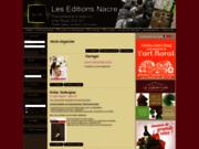 screenshot http://www.editionsnacre.com les editions nacre, art floral et déco